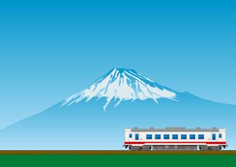 富士山とローカル線