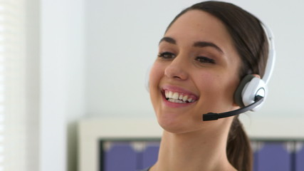 Woman customer service