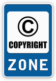 Sign COPYRIGHT zone