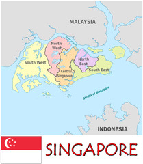 Singapore Asia national emblem map symbol motto