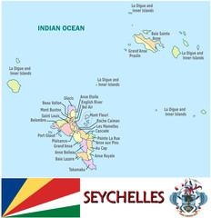 Seychelles Africa national emblem map symbol motto