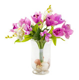 Bouquet of tulip and orchid