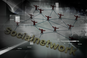 Social Network concept  on abstract background