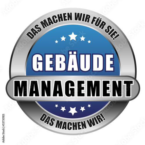 5 Star Button blau GEBÄUDE-MANAGEMENT DMWFS DMW