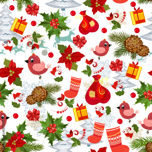 Merry Christmas texture seamless