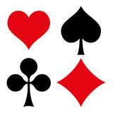 Fototapety Spielkarten Symbole