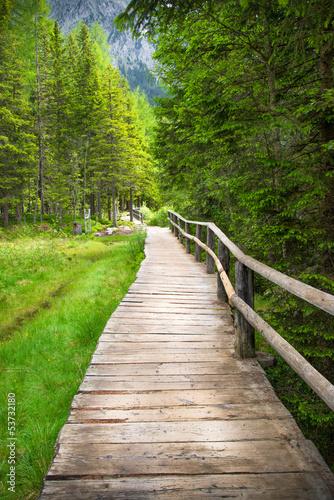 lesna-uliczka-z-drewnianym-traktem
