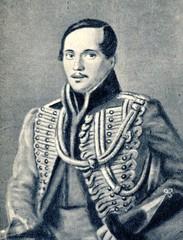 Russian poet Mikhail Lermontov