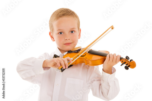 Children and violin