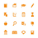 Education theme icons