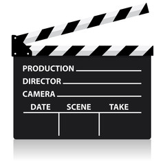 vector chalkboard movie director slate