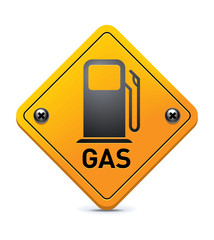 Gas road sign
