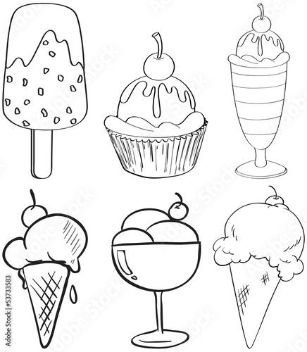 甜品甜的白色线绘图绘制背景葡萄酒艺术艺术品艺术家设计载体食物黑色图片