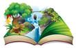 An enchanted book