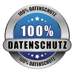 5 Star Button blau 100% DATENSCHUTZ DTO DTO