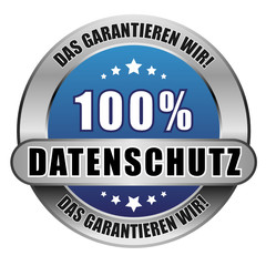 5 Star Button blau 100% DATESCHUTZ DGW DGW