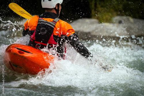 Fotobehang Extreme Sporten canoa
