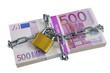 Bündel Euro Geldscheine