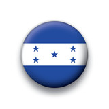 Vector flag button series Honduras