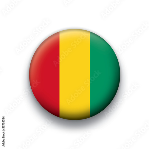Vector flag button series Guinea