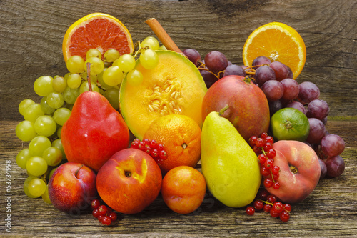 canvas print picture Obst Obstteller Obstschale