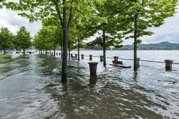 Lake Maggiore overflowed its banks
