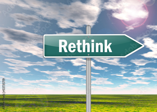 "Signpost ""Rethink"""
