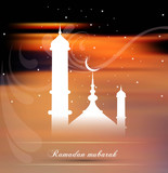 Ramadan greetings bright colorful vector  illustration