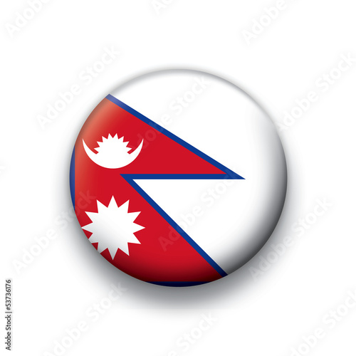 Vector flag button series Nepal