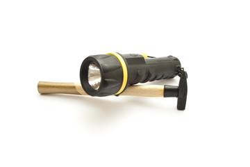 Taschenlampe mit Schlaghammer