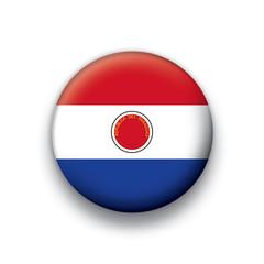 Vector flag button series Paraguay