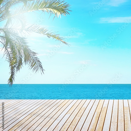 Tropical beach view