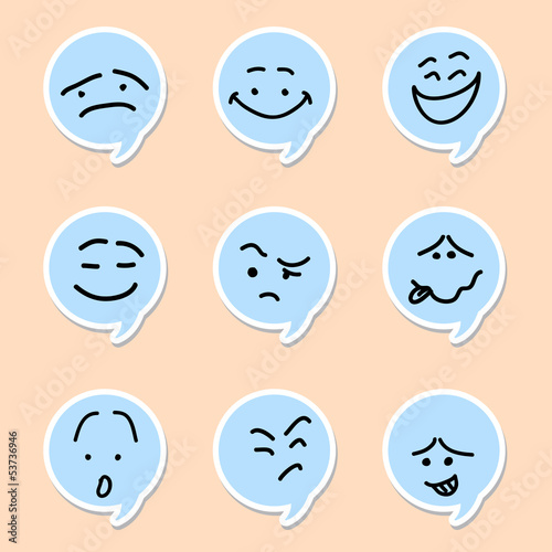 Speech bubble emoticon