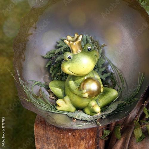 froschkönig deko figur