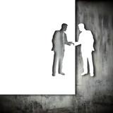 Papercut handshake poster
