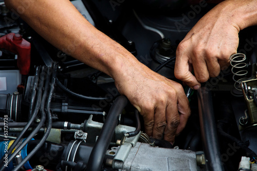 Professional car mechanic, auto repair concept