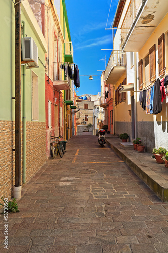 Sardinia - small street in Carloforte