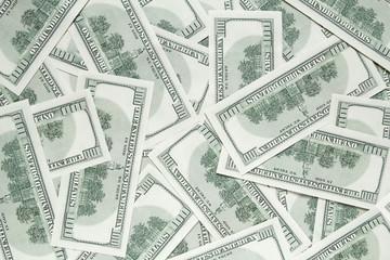 one hundred dollars background. back side of banknotes