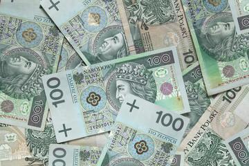 polish money background