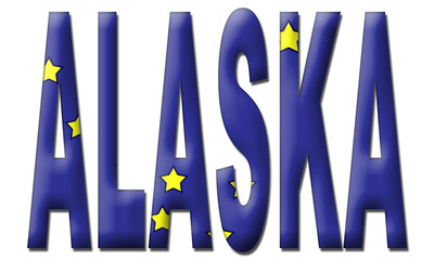 Alaska Text in Flag