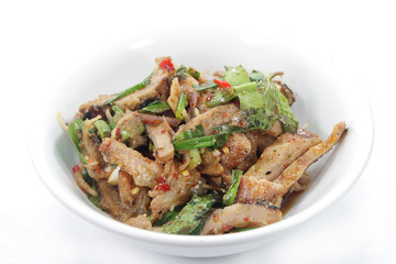 Thai food , Nam Tok Moo (Grilled Pork Salad)