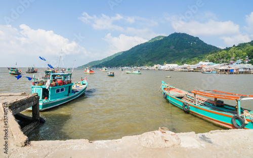 Boats in Hon Tre pier, early morning, Nam Du Islands, Kien Giang