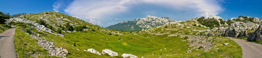 Velebit mountain wilderness panoramic view