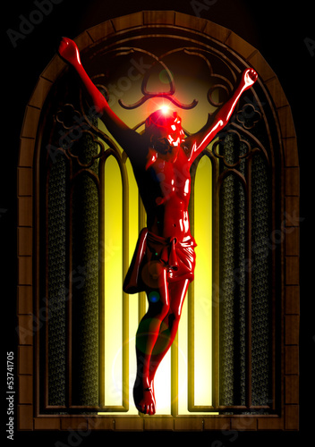 Crucified jesus seen in ancient church