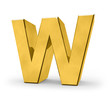 letter in gold - W