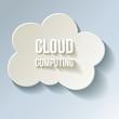 Cloud Cloud-Computing Rechnen in der Wolke Kalt Frost