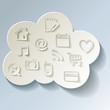 Cloud Cloud-Computing Rechnen in der Wolke Bunt Kalt Frost