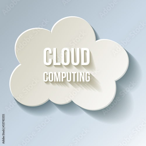 Cloud Cloud-Computing Rechnen in der Wolke Kalt Frost