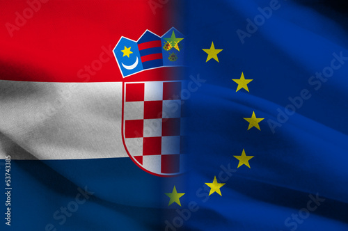 croatian - european flags