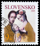 Slovakian post stamp